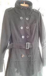 Пальто, черное, шерсть, бу