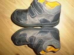 кожаные ботинки туфли CLARKS стелька 19 см