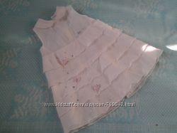 Нежное нарядное  платье на 1 г. BABY A Италия, нарядная юбочка на 9-12м.
