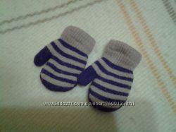 Теплые рукавички на девочку 1-3  года