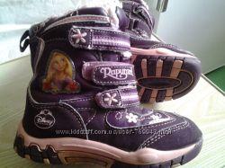 Теплые деми ботинки  Disney princess Rapunzel на площадку  27 размер
