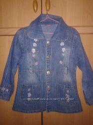 Легенький джинсовый пиджачок девочке 3-4г