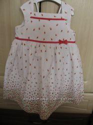 Комплект с панамкой, нарядное платье для девочки от 1 до 2, 5 лет