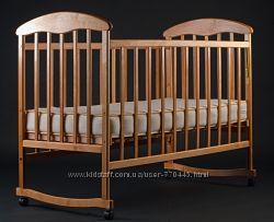 Детская кровать Наталка без ящика из ольхи и ясеня