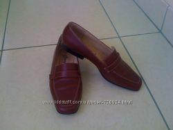 шкіряні туфлі 37р. 24. 3см стєлька