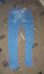 Джинсы  скинни голубые Zara размер 36