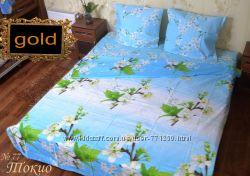 Качественное полуторное постельное белье бязь голд