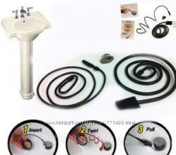 Инструмент для удаления волос и засоров из сливных отверстий Sink Snake.
