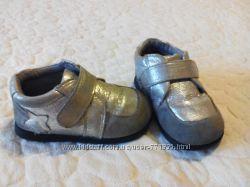Туфли -кросовки 24р. для девочки, кожа, серебро