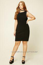 Классическое батальное черное платье с американского Forever 21 наш 56-58.