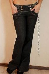 Джинсовые брюки с заниженой талией