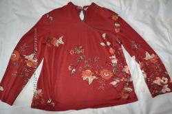 Яркая блуза, польша, 50р, хл-ххл, распродажа