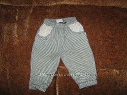 полосатые серые штанишки, на рост 68 см.