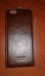 Эксклюзивный кожаный чехол- раскладушка AKIRA HAND MADE.