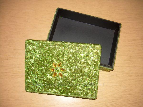 Оригинальная шкатулка из бисера на подарок