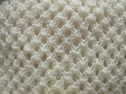 Теплый ажурный шарф ручной работы из шерсти и мохера