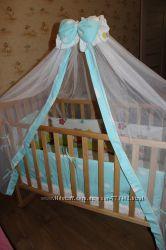 Детская защита для кровати кроватка балдахин подушка одеяло подарок