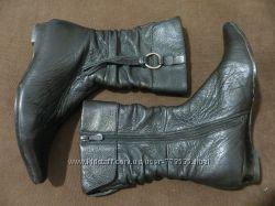 удобные, демисезонные, кожаные сапоги 37 р.