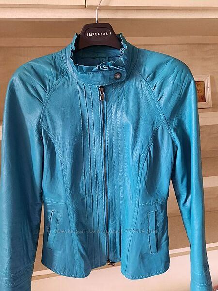 Куртка из мягкой кожи, кожанка Imperial, Италия, р. s