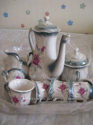 чайный сервиз фарфор 9 предметов