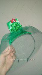 Шляпка декоративная для карнавального костюма елочки