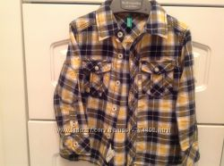 Стильная рубашка Beneton 12-18 мес большемер
