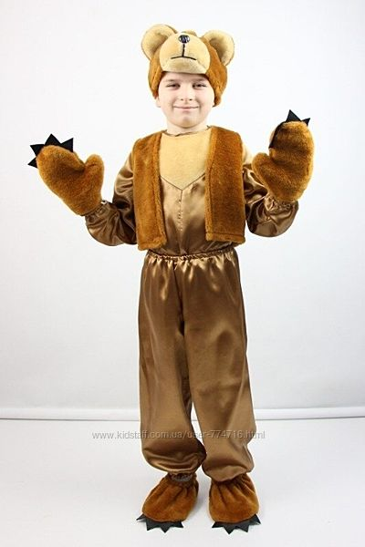 Карнавальный костюм Мишка 4 рыжий , рост 95-120, возраст 3-6