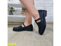 Туфли на низком каблуке с резинкой 36-41р, 2149