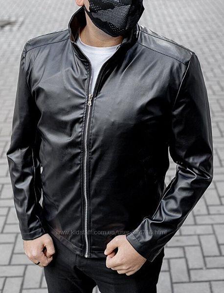 Мужская куртка весенняя из эко-кожи