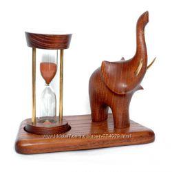 Песочные часы 5 минут со скульптурой Слон