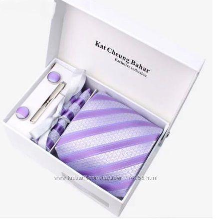 Распродажа галстуки, запонки, зажим - подарочные наборы, выбор расцветок