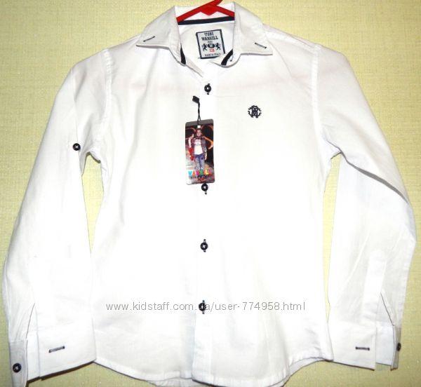 Рубашка белая, голубая для мальчиков