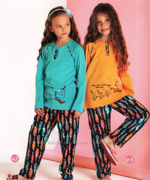 Пижамы для девочек 1-7 лет