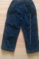Вельветовые штанишки на трикотаж подкладке на 2-3г