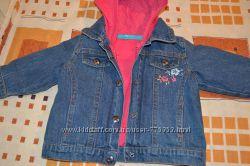 Продам комплект джинсовая курточка и кофта 68 р.