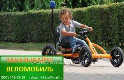 Веломобиль BERG BuddyOrange для детей до 8 лет