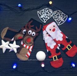 нососки новогодние и носки 3Д