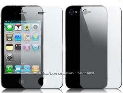 Качественная передняя, задняя защитная глянцевая пленка для Iphone 44S