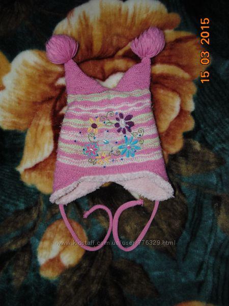 Комплект шапочка зимняя  и шарфик