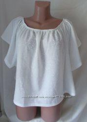 Новая блуза разлетайка белая гипюр New Look 50-54р