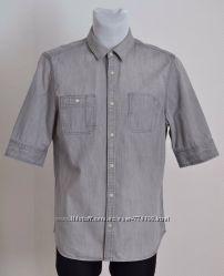Рубашка джинсовая как новая серая ALLSAINTS Origin HS shirt XL 52р