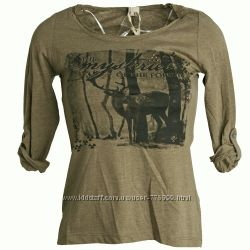 Новая блуза хаки принт с оленем Urban Surface Германия 46-48р