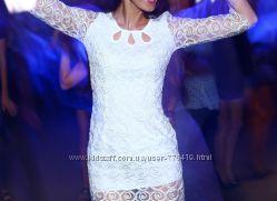 Платье белое S подойдет на роспись и пиджак короткий