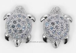 Серьги серебро 925 позолота натуральные топазы арт. 079