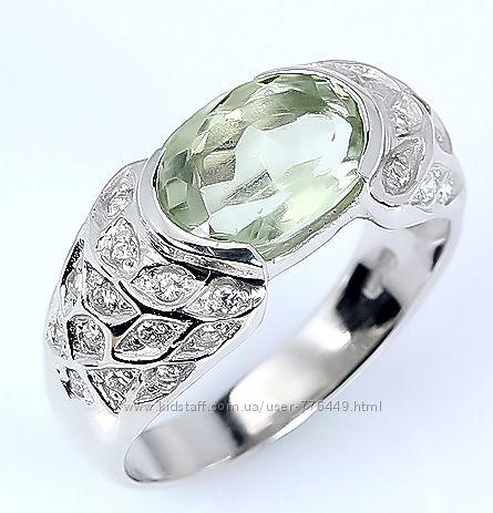 Кольцо серебро 925 позолота натуральный аметист арт. 095