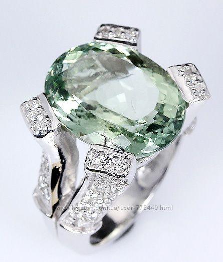 Кольцо серебро 925 позолота натуральный аметист арт. 096