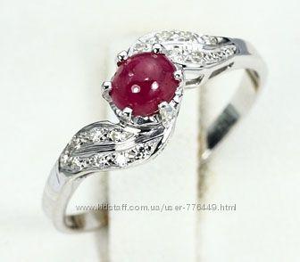 Кольцо серебро 925 с натуральным рубином арт. 026