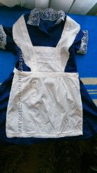 Школьное платья с фартуком
