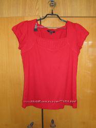 Красная плотная футболка Dunnes