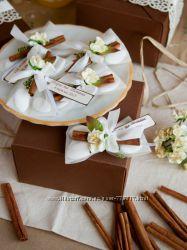 Бонбоньерки с конфетами Бабочка с корицей